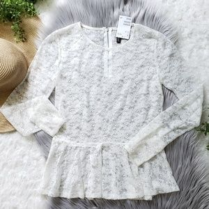 H&M Divided Lace Peplum Top